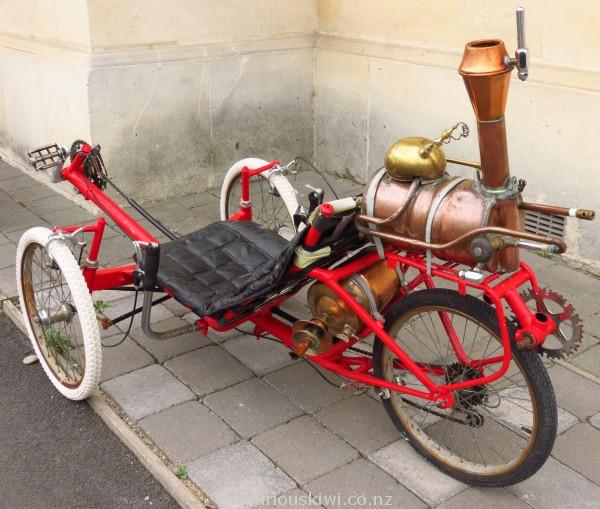 Steampunk on wheels in Oamaru
