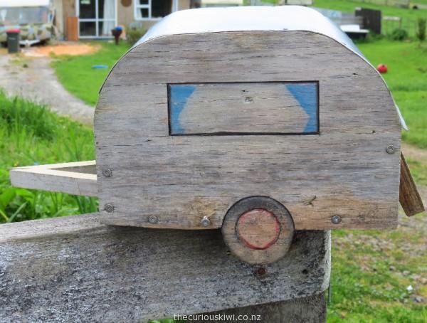 Caravan letter box in Taranaki
