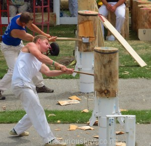 Axemen competing
