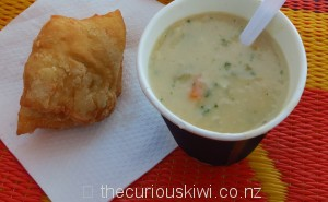 Rewena bread & seafood chowder