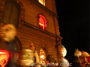 *Blurry mask parade