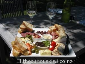 Platter at Matawhero Wines