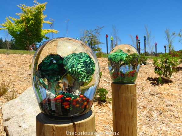 Glass forests in giant paper weights