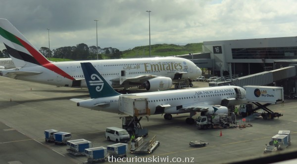 Air New Zealand - getting ready for take off to Samoa
