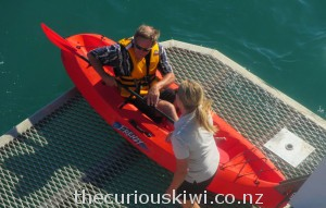 Kayaking can be part of your overnight Hauraki Blue Cruise