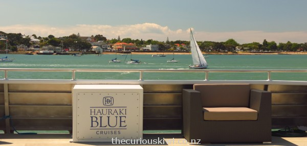 Take a seat on the top deck - Devonport in the distance