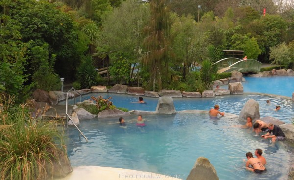 Thermal pools at Wairakei Terraces