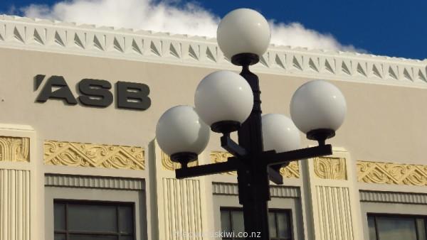 Exterior of ASB in Napier incorporates Maori designs