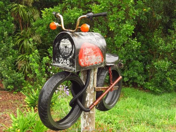 Motorbike letter box