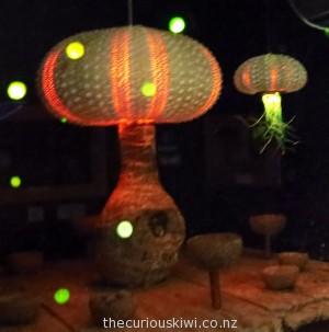 Kina shells look like miniature light fittings