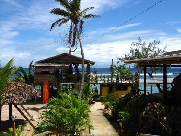 Look for whales from Sunset Restaurant at Liku'alofa Beach Resort in Ha'atafu