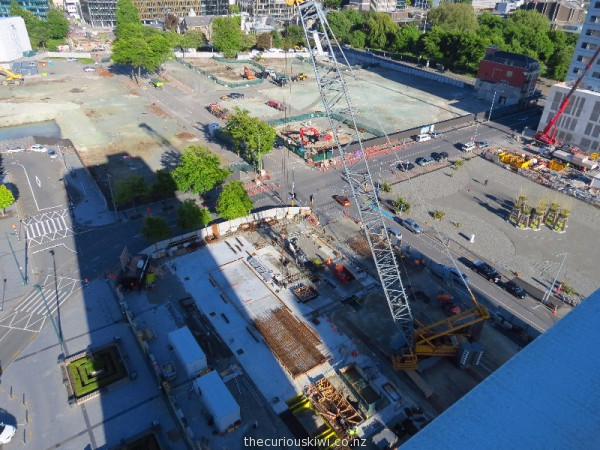 November 2016 - Crane at work on the site of the new Christchurch central library