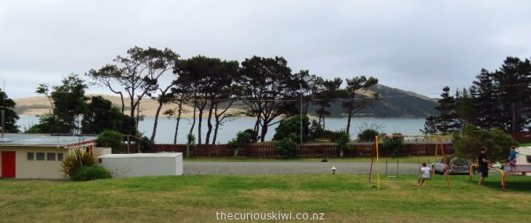 View from our site at Opononi Beach Holiday Park