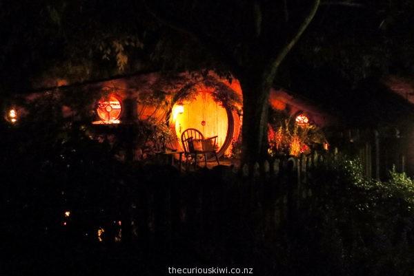 Night shot at Hobbiton