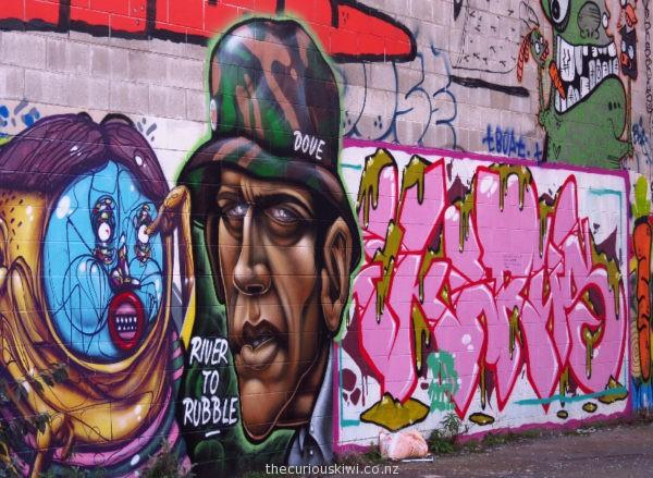 Christchurch Street Art by Carrot Boy & Dove