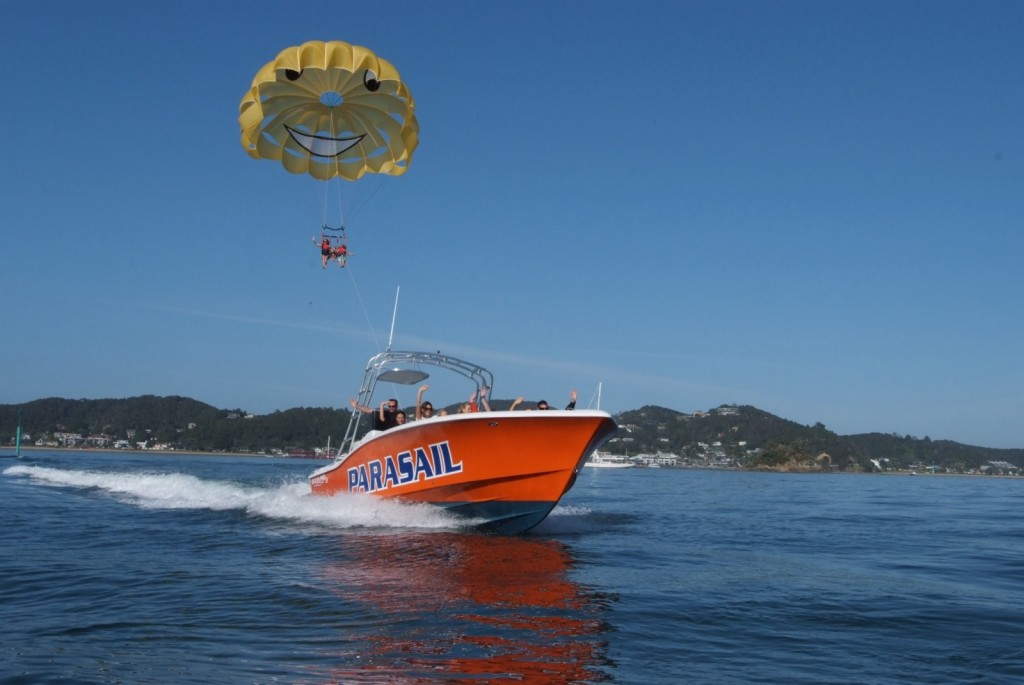 The descent with Flying Kiwi Parasail