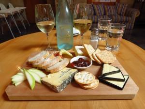 Cheese platter at Wairau River