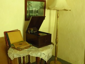Gramophone in guest lounge
