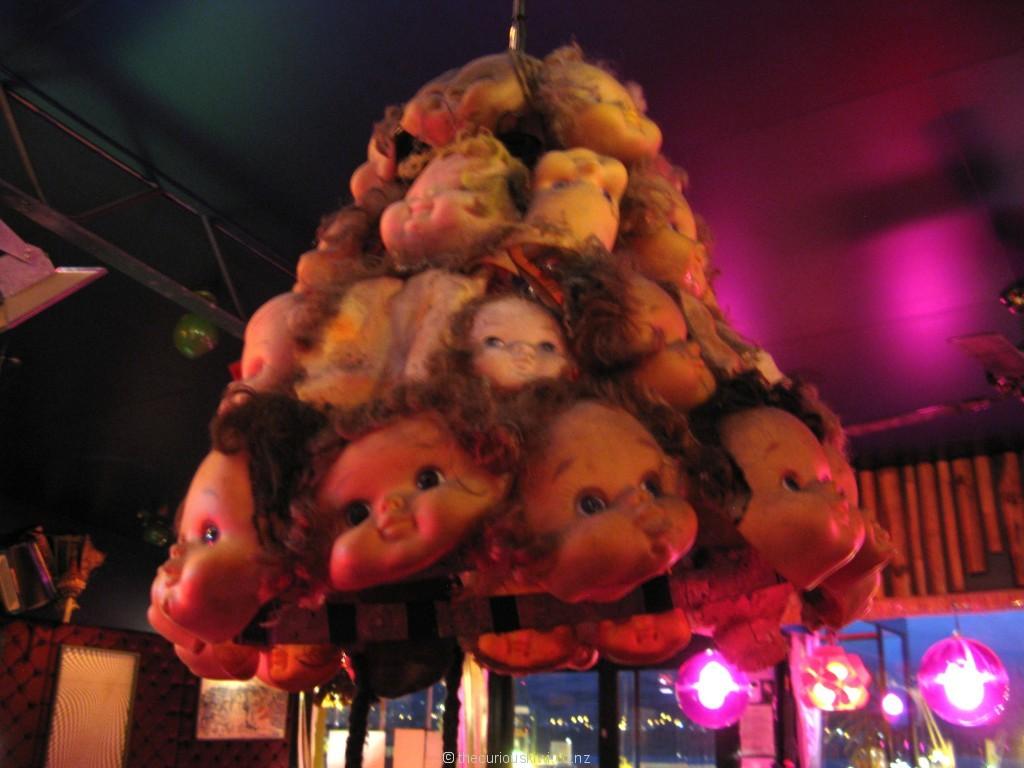 Dolls head lamp shade at Wunderbar