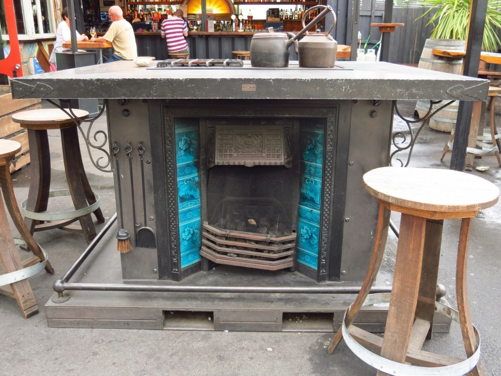 Fire place table made by Ironic Art