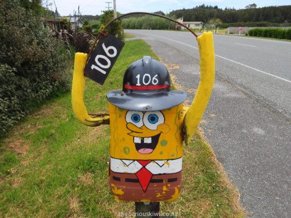 Sponge Bob in Hokitika