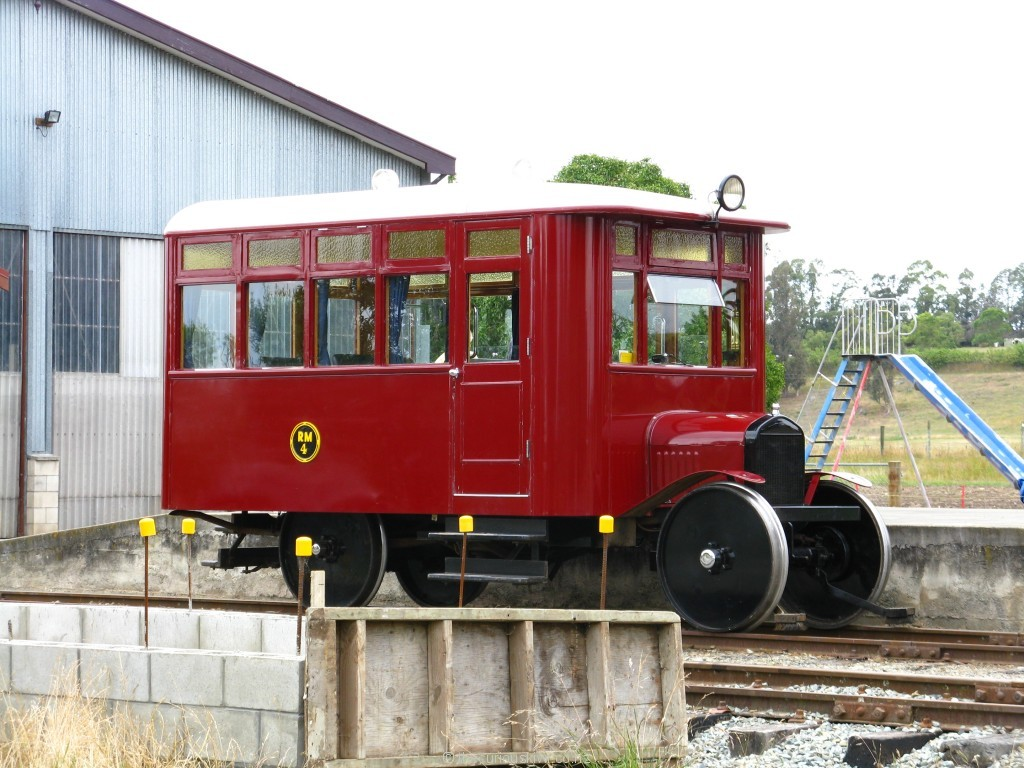 Model T Ford Railcar at Pleasant Point Railway