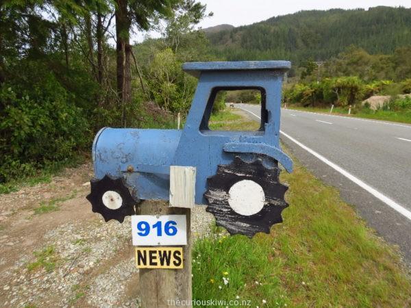 Tractor letter box in Westport