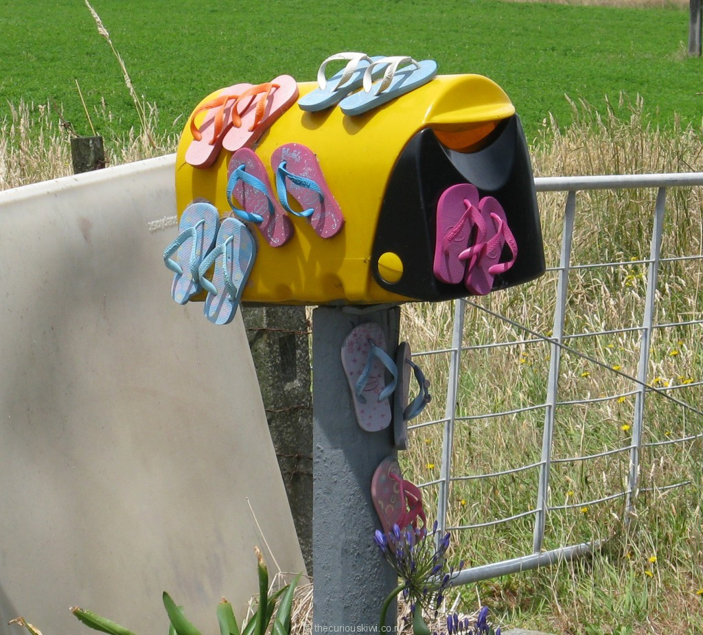 Jandal letter box, Manawatu