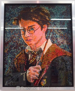Jelly Belly jelly beans make a portrait of Harry Potter