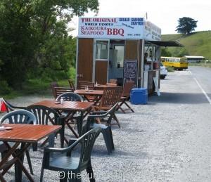 Seafood BBQ kai kart near Point Kean