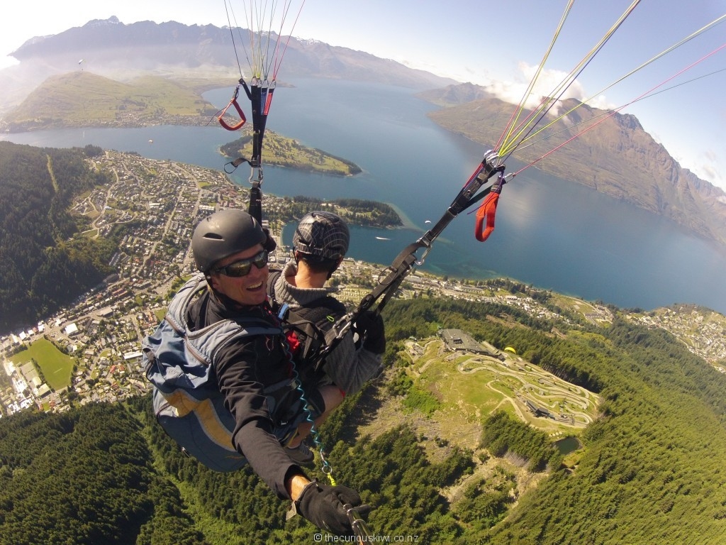 Flying high over stunning Queenstown