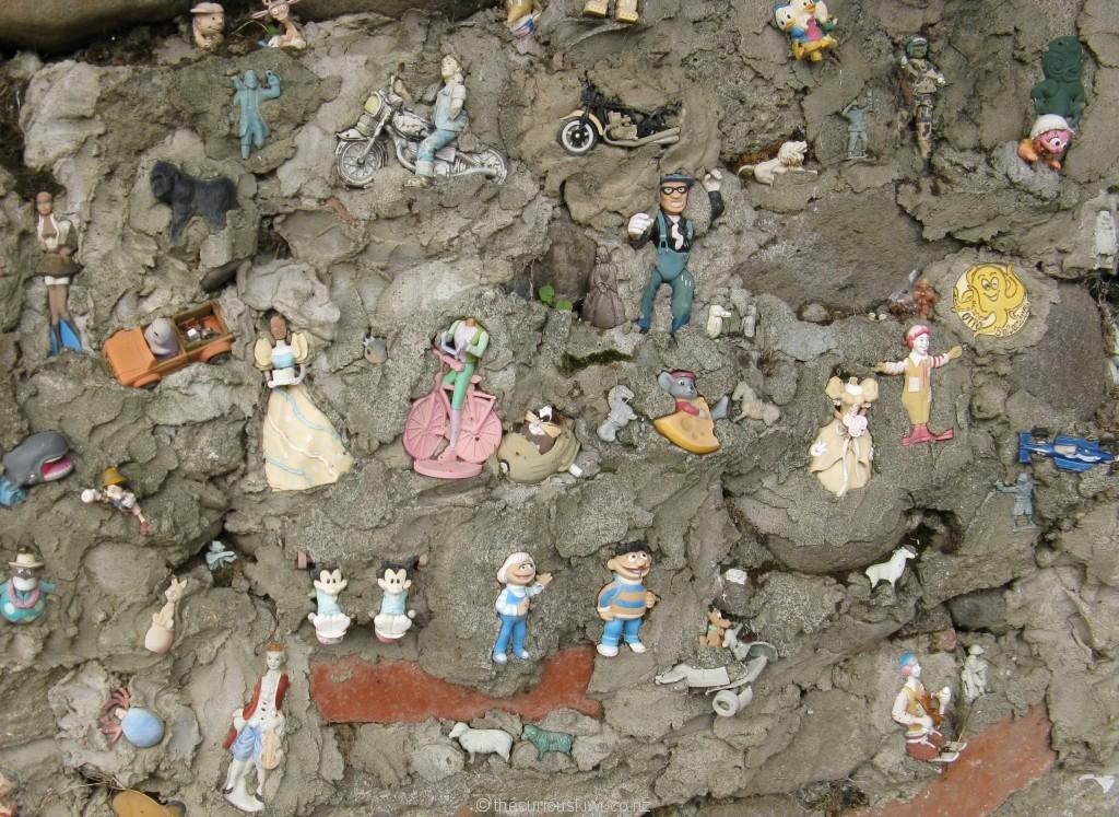 Part of the Toy Wall in Eltham (Taranaki)
