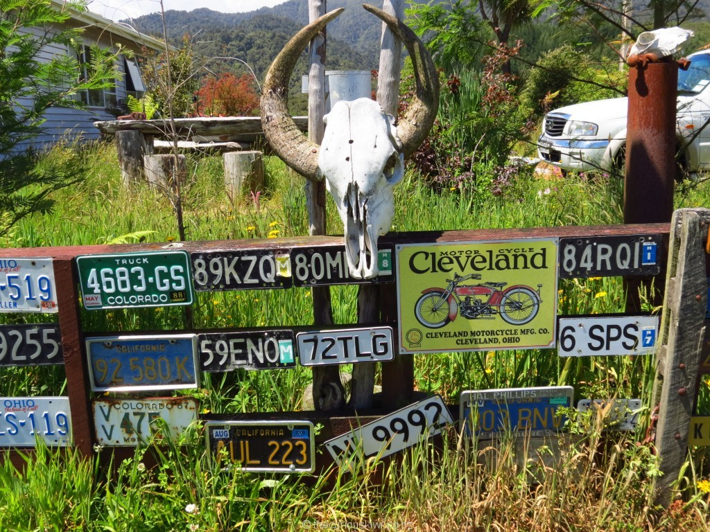 Number plate fence in Ross