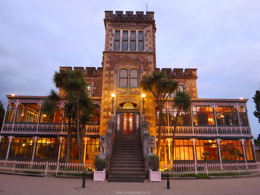 Larnach Castle lit up at night