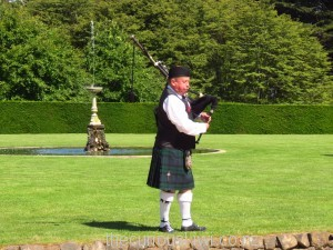 A bagpiper may be playing