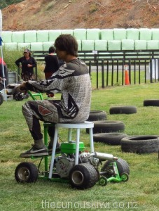 Ride-on stool at Rotorua A&P show
