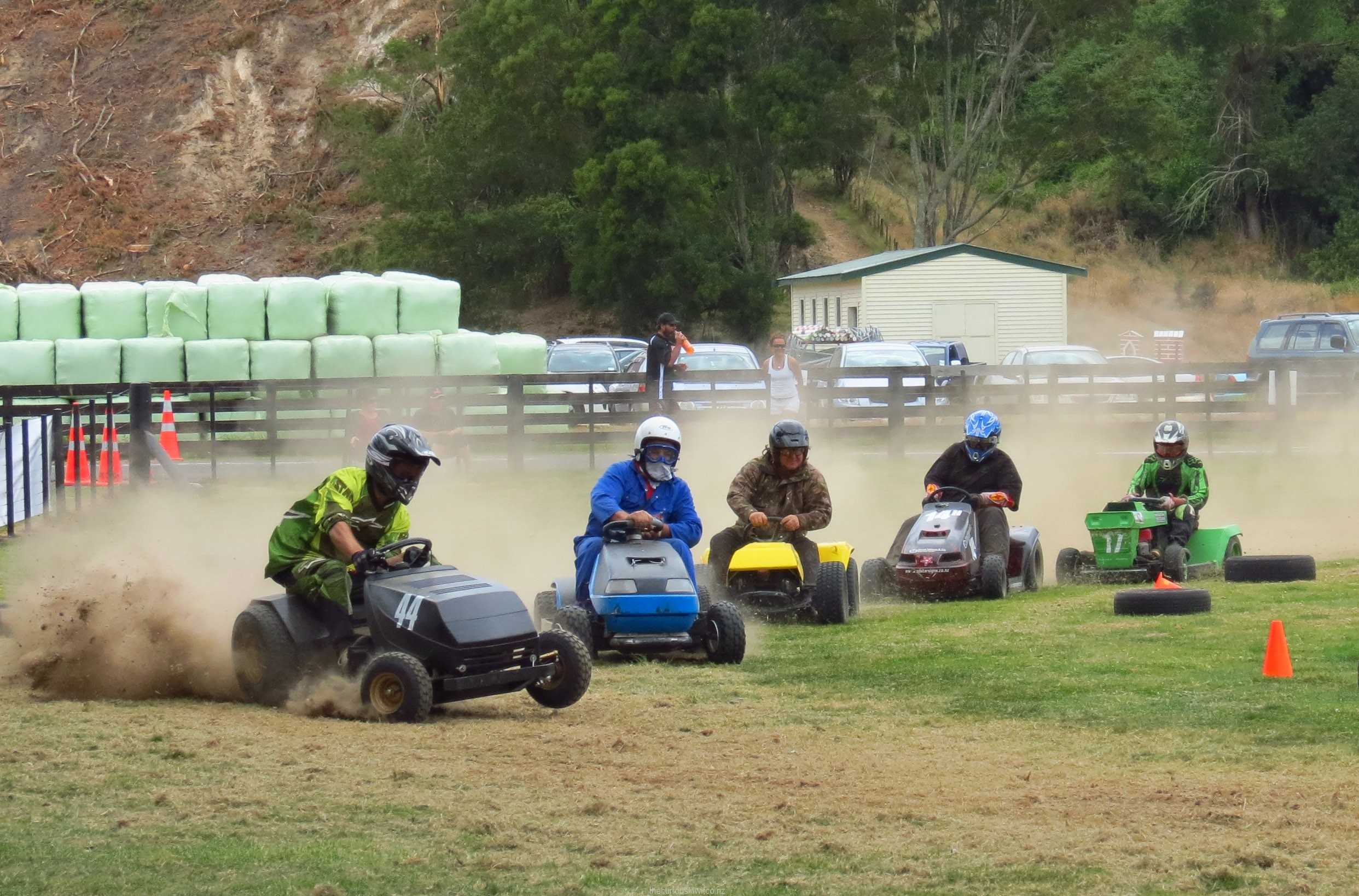 Ride-on lawn mower race at Rotorua A&P Show