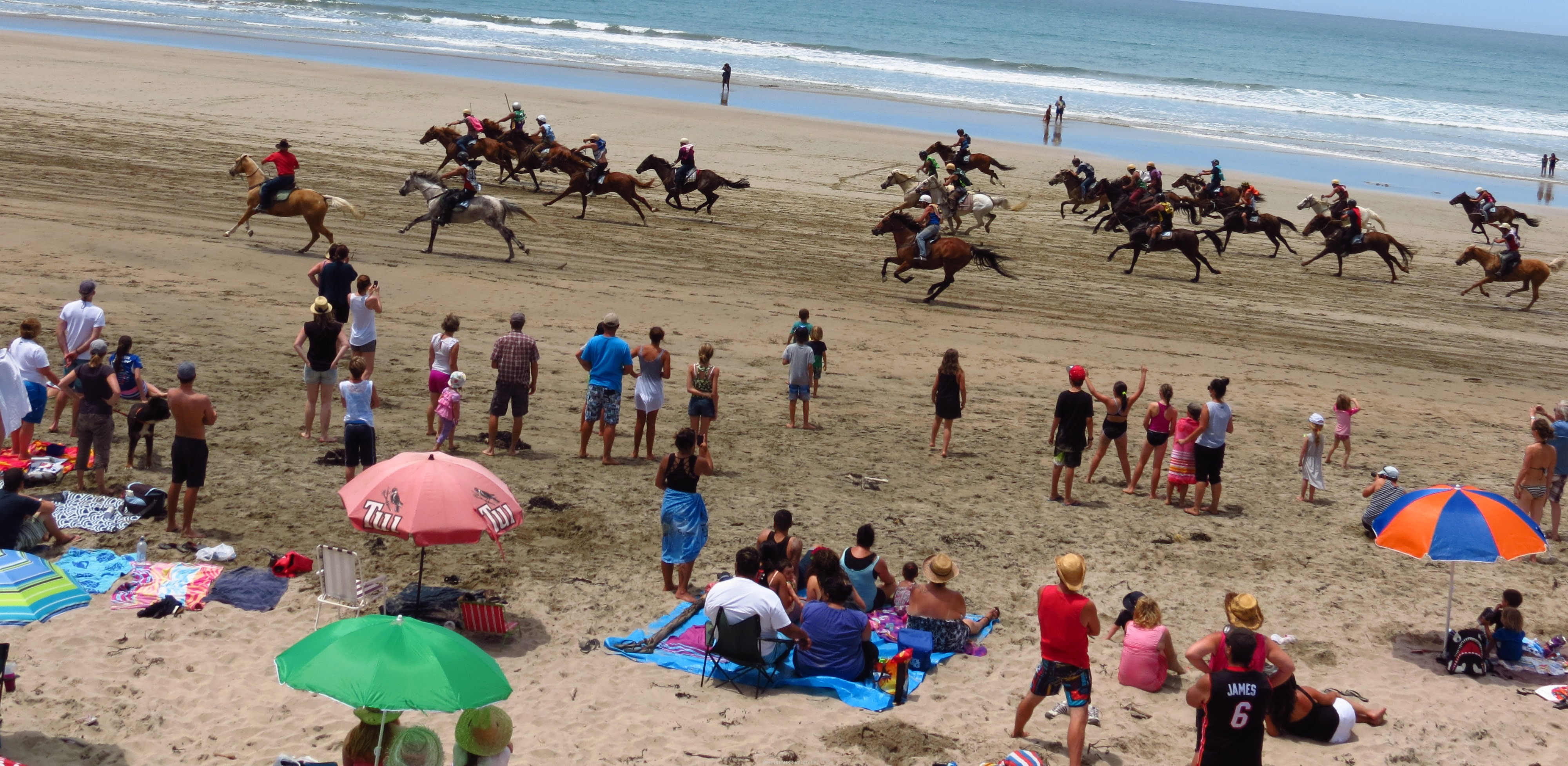 A big field at Kaiaua Beach Races