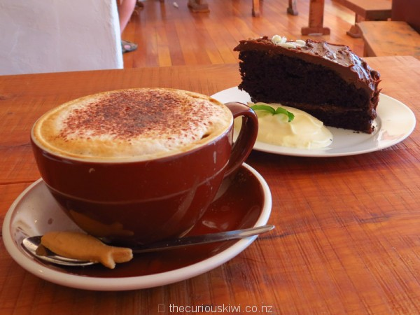 Coffee and beer chocolate cake at Crafty Trout