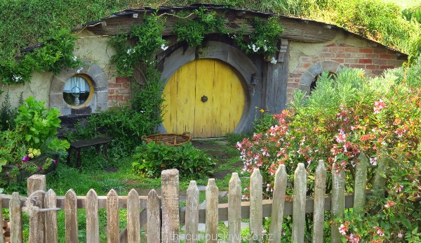 Sunshine yellow is a popular colour at Hobbiton