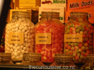Old fashioned sweets in lolly jars for movie munchies
