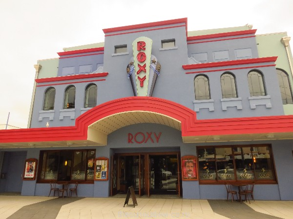 Art Deco facade of Roxy Cinema in Miramar, Wellington