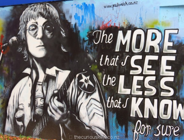 John Lennon by Paul Walsh, on the Rockshop, 100 K Road
