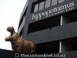 Eye catcher on the exterior - gold hippopotamus