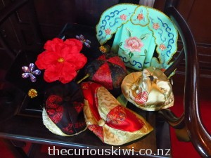 Try on hats and traditional costumes