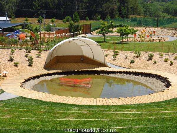 Sculpture garden/summer concert venue at Lava Glass