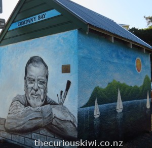 Portrait tribute to Mr Noakes at Company Bay