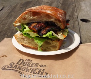 Gunpowder pork sandwich from The Dukes of Sandwich