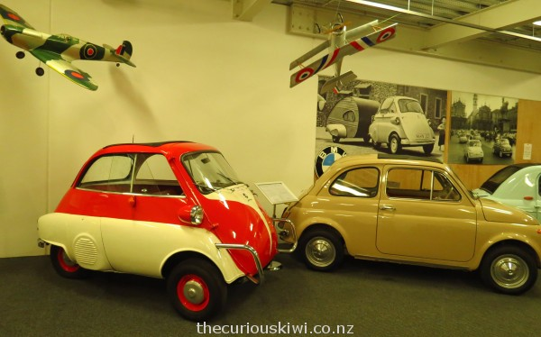 1958 Isetta Motocoup on the left, 1967 Fiat Bambina on the right