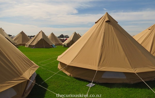 Glamping at WOMAD